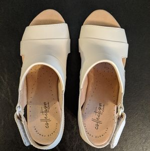 Clarks Shoes - 😍 Clark's White Wedges Size 6